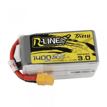 Tattu R-Line Version 3.0 1400mAh 22.2V 120C 6S1P Lipo Battery Pack with XT60 Plu