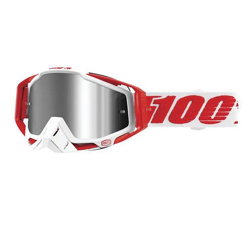 100% Racecraft Plus Goggles; Bilal w/Silver Flash Lens