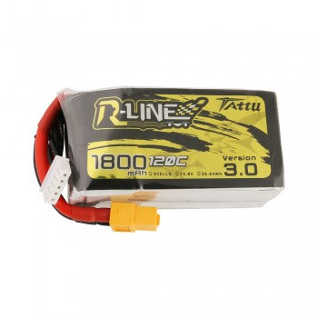 Tattu R-Line Version 3.0 1800mAh 14.8V 120C 4S1P Lipo Battery Pack with XT60 Plu