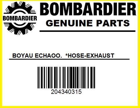 Bombardier 204340315 BOYAU ECHAPP  *HOSE EXHAUST