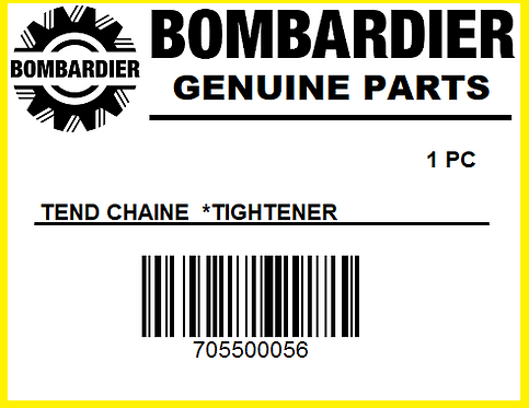 Bombardier 705500056 TEND. CHAINE *TIGHTENER