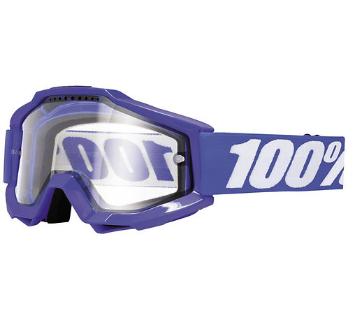 100% Accuri Enduro Goggles; Reflex Blue w/Clear Dual Lens