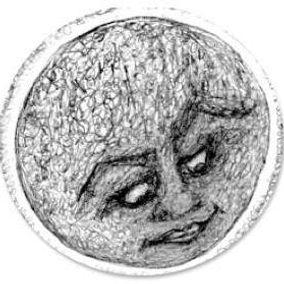 moon- pencil drawing