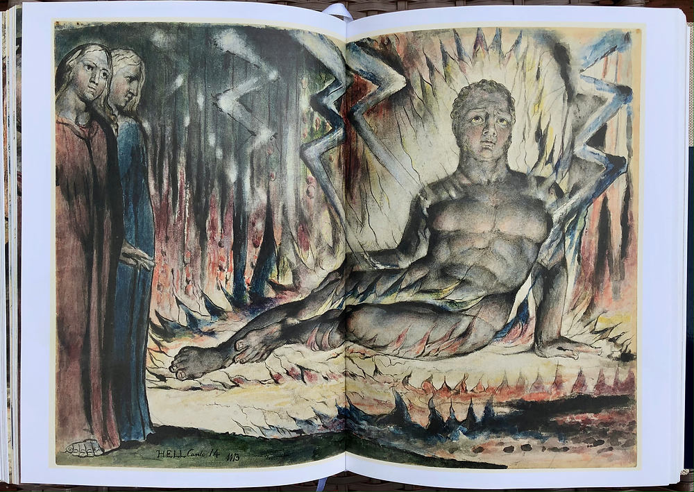 William Blake Painting: Canto 14 in the Divine Comedy