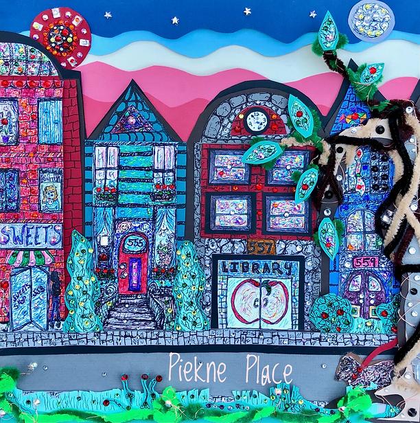 Take a stroll on Piekne Place- canvas paper art, new age art