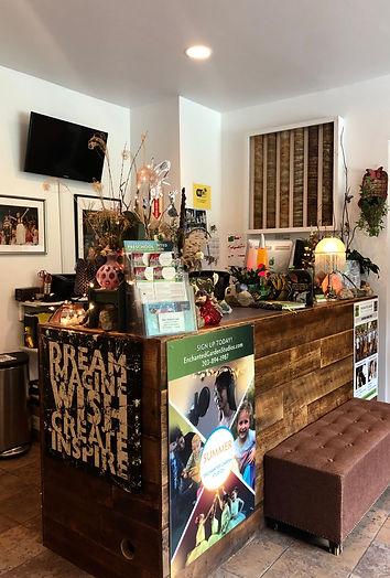 Reception Desk at Enchanted Garden Studio Two