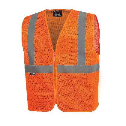 Mesh Safety Vest No Pockets
