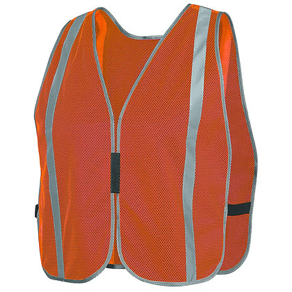 Plain Mesh Safety Vest w/ Stripes