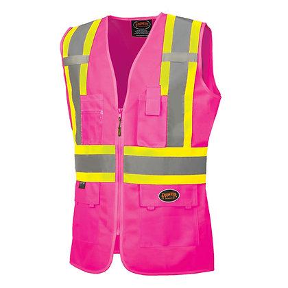Women's Custom Fit Hi-Vis Mesh Back Safety Vest