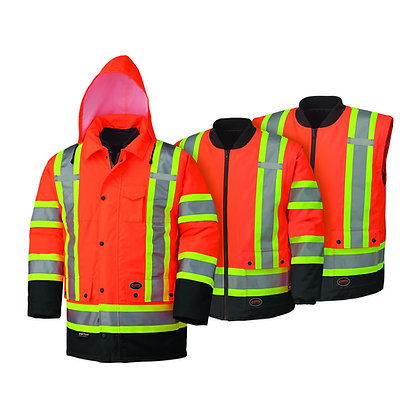 Hi-Vis 100% Waterproof 7-in-1 Parka