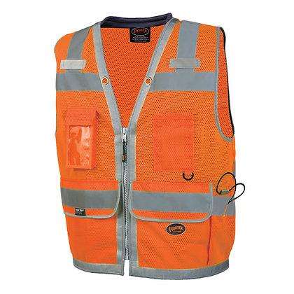 Mesh Surveyor Vest with Padded Collar