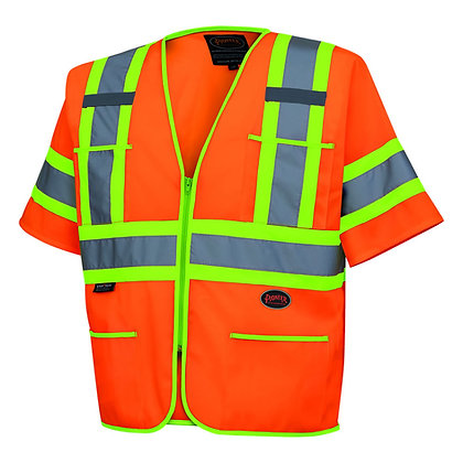 Polyester Tricot Sleeved Safety Vest