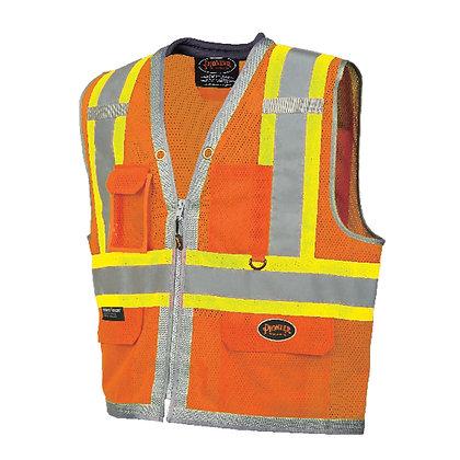 Full Mesh Surveyor Vest with Padded Collar