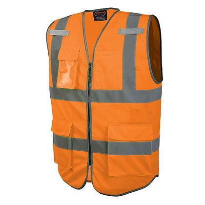 Solid Multi-Pocket Safety Vest