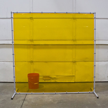 Premium Welding Curtain and Frame Combo Yellow