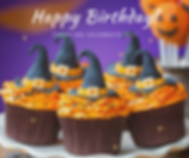Birthday Cupcakes Witch Hat Orange