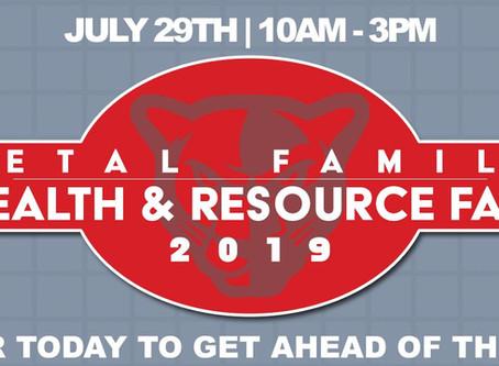 PETAL FAMILY HEALTH & RESOURCE FAIR, JULY 29TH