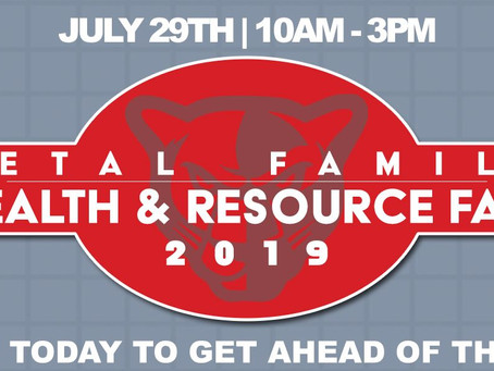 PETAL FAMILY HEALTH & RESOURCE FAIR, JULY 29TH