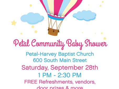 RSVP Today for Petal's Community Baby Shower