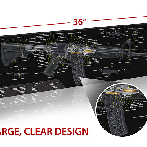 TekMat AR-15 3Dカット クリーニングマット