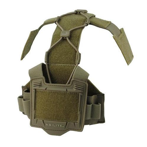Agilite Gear タクティカル ヘルメット ブリッジ アクセサリープラットフォーム コヨーテタン …