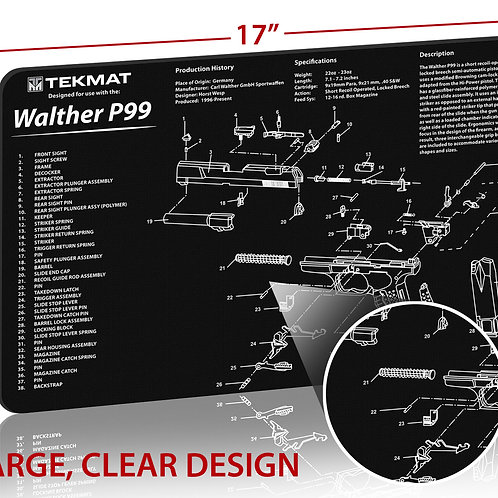 TekMat Walther® P99 クリーニングマット