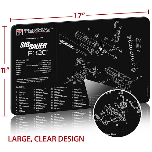 TekMat Sig Sauer P320ガンクリーニングマット