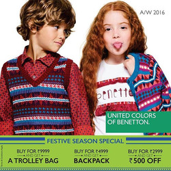 🍃Ready for kicking the autumn leaves! 🍃_Start the festive season with Benetton's super cute #AW16
