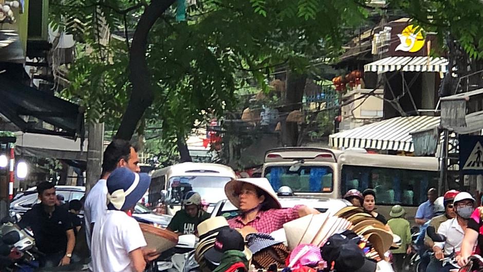 No centro de Hanoi