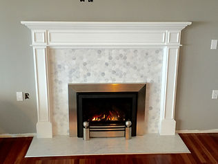 Custom Tile Fireplace