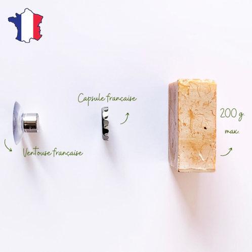 porte-savon minimaliste aimanté | Fabriqué en France
