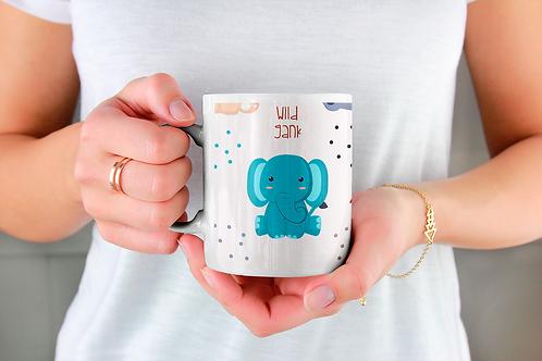 Чаша за кафе с илюстрации на Слончета - вариант 21 - Безплатна доставка.