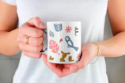 Чаша за кафе с илюстрации на Слончета - вариант 20 - Безплатна доставка.