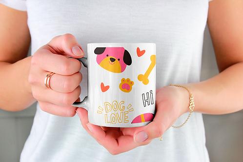Чаша за кафе с илюстрации на кучета - вариант 27