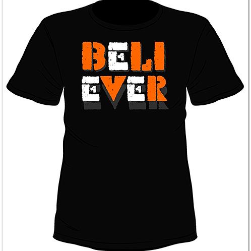 Черна тениска с къс ръкав - Believer