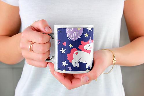 Стилна чаша за кафе с илюстрации на Еднорог-вар.5 -Безплатна доставка