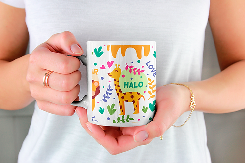 Стилна чаша за кафе с илюстрации на Жирафи-вар.7 -Безплатна доставка