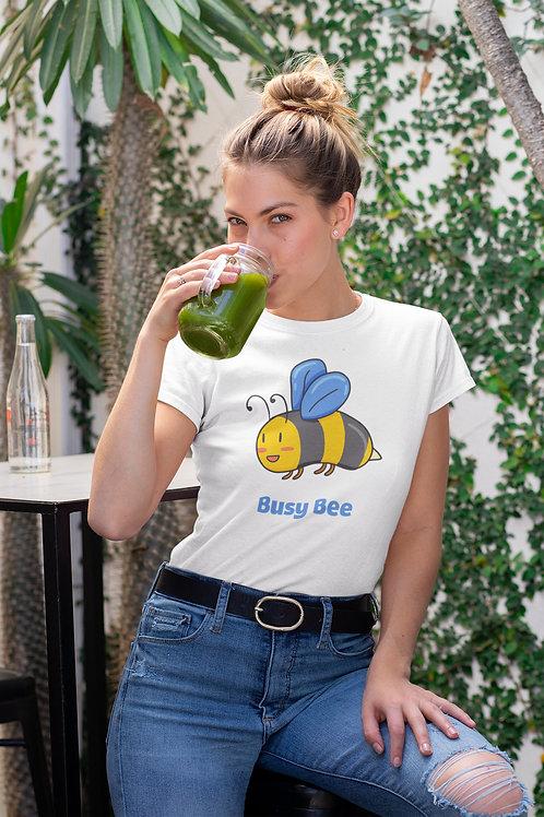 Бяла тениска с илюстрация на Пчели - Вариант 1 - Безплатна доставка