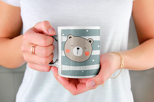 Стилна чаша за кафе с илюстрации на Мечки-вар.13 -Безплатна доставка