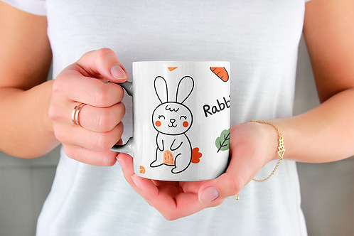 Стилна чаша за кафе с илюстрации на Зайци-вар.4 -Безплатна доставка