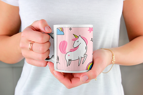Стилна чаша за кафе с илюстрации на Еднорог-вар.17 -Безплатна доставка