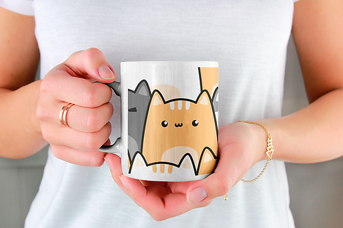 Чаша за кафе със стилни илюстрации на Котки-вар.23
