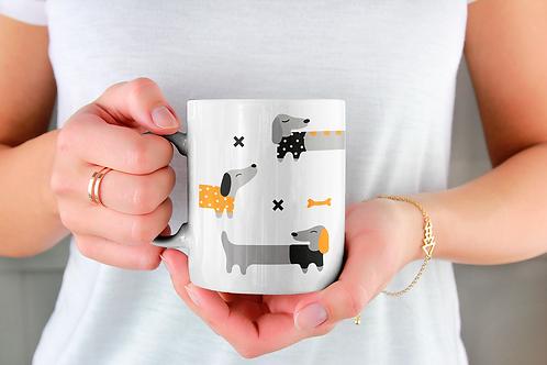 Чаша за кафе с илюстрации на кучета - вариант 33