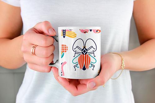 Стилна чаша за кафе с илюстрации на Пеперуди-вар.4 -Безплатна доставка.