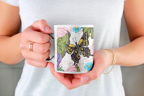 Стилна чаша за кафе с илюстрации на Пеперуди-вар.15 -Безплатна доставка.