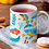 Thumbnail: Стилна чаша за кафе с оригинални илюстрации на Риби - вар.2