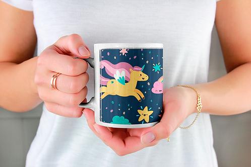 Стилна чаша за кафе с илюстрации на Еднорог-вар.9 -Безплатна доставка
