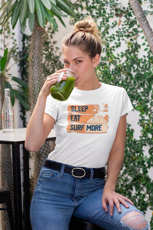 Бяла тениска със Сърф - Вариант 2 - Безплатна доставка