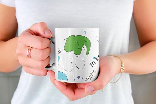 Чаша за кафе с илюстрации на Слончета - вариант 26