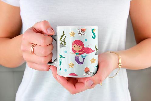 Стилна чаша за кафе с оригинални илюстрации на Риби - вар.5 - Безплатна доставка
